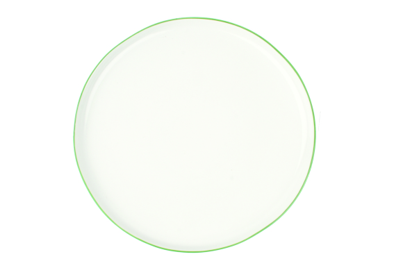 Abbesses Dinner Plate (green rim)