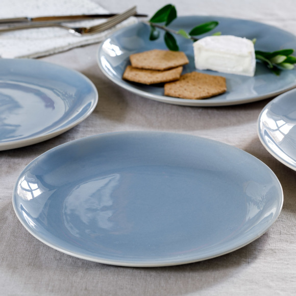 Blue Shell Bisque Side Plate