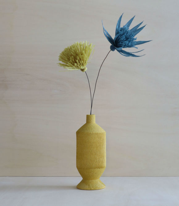 Botti Ceramic Vase + Faux Flowers | Assorted Colours