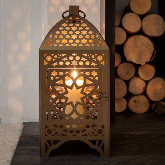 Bronze Moroccan Lantern Square, Moroccan Outdoor Lamps Uk