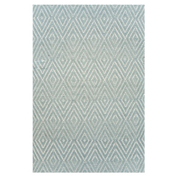 Diamond Indoor/Outdoor Rug | 5'x3' | Light Blue & Ivory