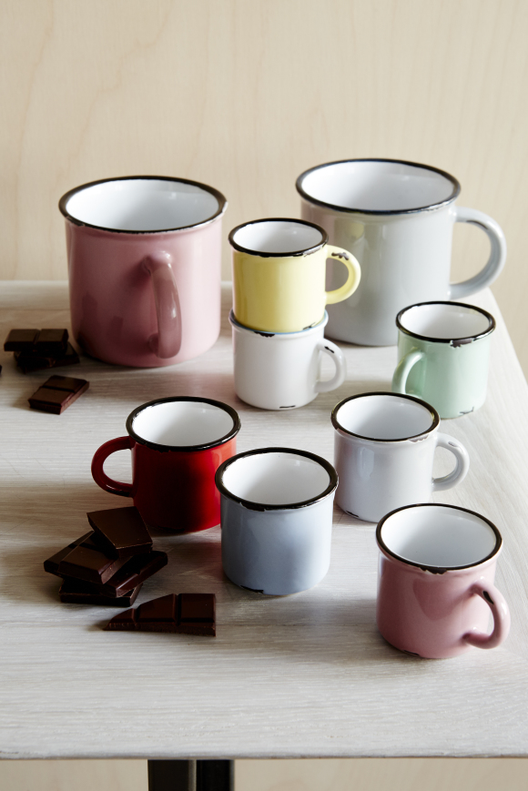 Tinware Espresso Cups | Set of 6