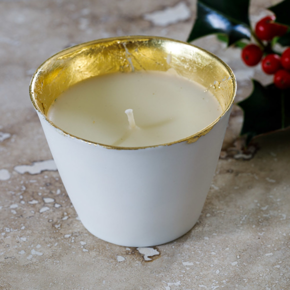 Gilded Christmas Candle by Ana Bridgewater