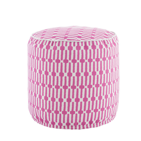 Links Indoor & Outdoor Pouffe | Fuchsia