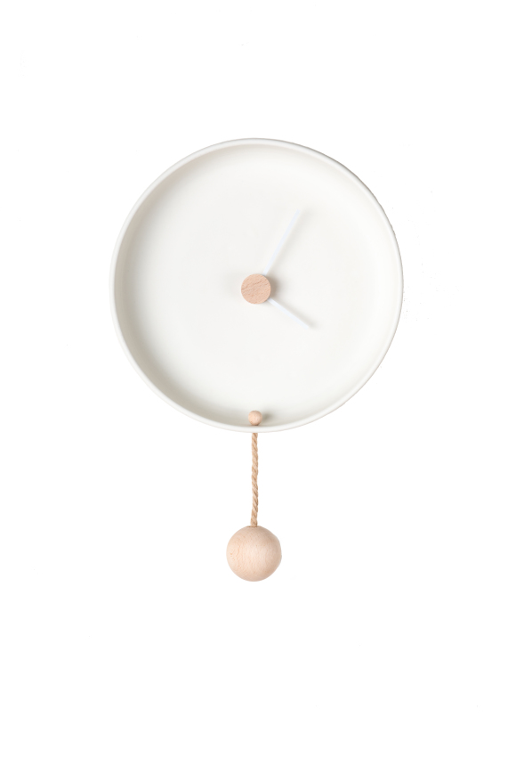 Totide' Wall Clock, Large | White