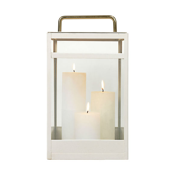 White Lantern | Stainless Steel