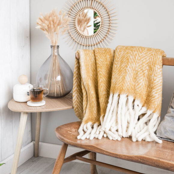 Wool Throw | Mustard