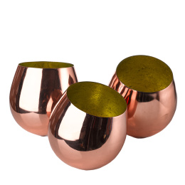 Trio of Copper Votives