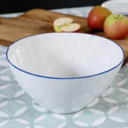 Abbesses Large Bowl | Blue Rim
