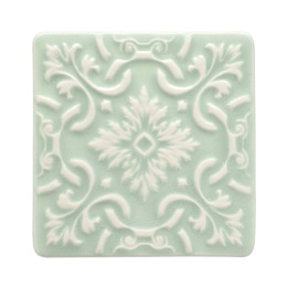 Atlantica Tile Coaster | set of 2 | mint green