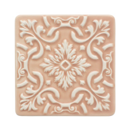 Atlantica Tile Coaster | set of 2 | nude pink