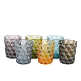 Block Tumblers | Multicoloured | Set of 6