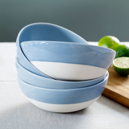 Blue Shell Bisque Cereal Bowl