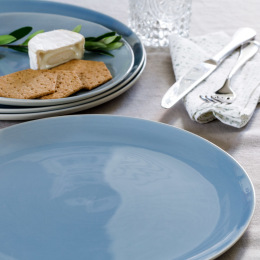 Blue Shell Bisque Dinner Plate