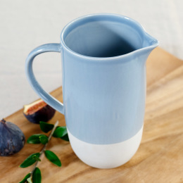 Blue Shell Bisque Jug