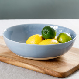 Shell Bisque Round Serving Bowl | Assorted Colours