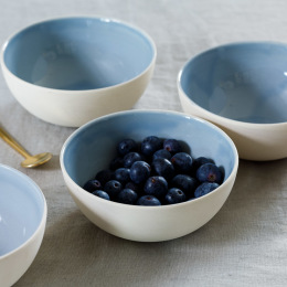 Blue Shell Bisque Small Bowl