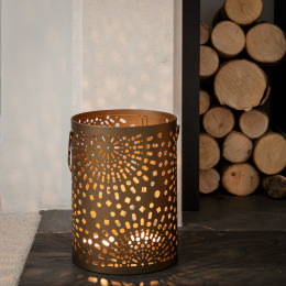 Bronze Moroccan Candle Holder (24cm)