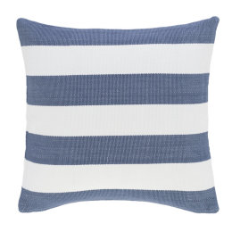 Catamaran Indoor & Outdoor Cushion | Denim & White Stripe