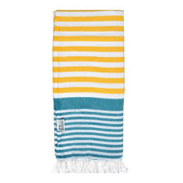 Celesto Hammam Towel | Yellow & Teal