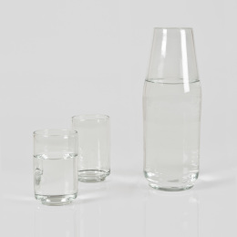 Clear Carafe & Glass Set
