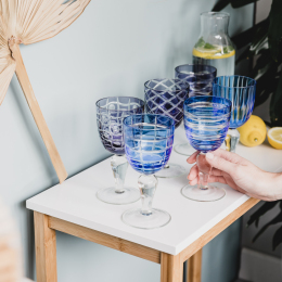 Cobalt Mix Wine Glasses | Set of 6