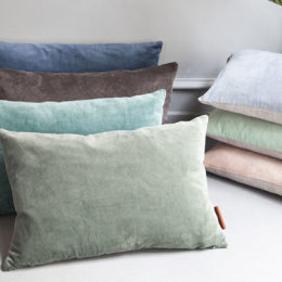 Cotton Velvet Cushion | Assorted Colours | 50 x 30