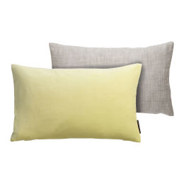 Cotton Velvet Cushion (yellow)