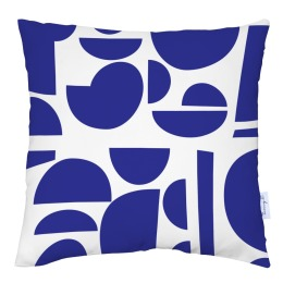 Delos Blue Cushion by Tomy K | 40x40