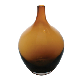 Fieso Glass Vase, Amber
