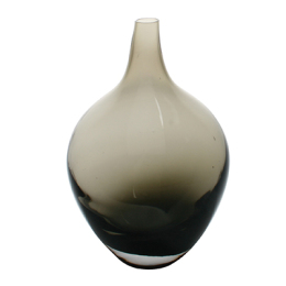 Fieso Glass Vase, Smoked
