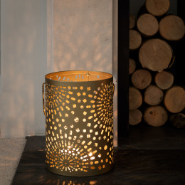 Gold Moroccan Candle Holder (24cm)