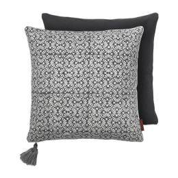 Grey Seashells Cotton Cushion