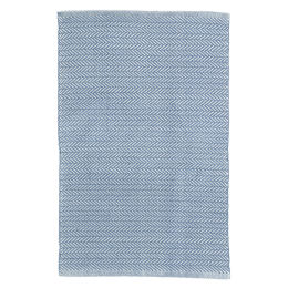 Herringbone Indoor & Outdoor Rug | Denim/ivory 5'x3'