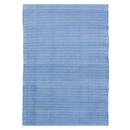Herringbone Indoor & Outdoor Rug | French Blue 6'x4'