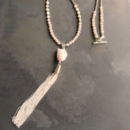 Isabel Pearl Tassel Necklace