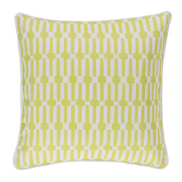 Links Indoor & Outdoor Cushion | Chartreuse