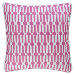 Links Indoor & Outdoor Cushion | Fuchsia
