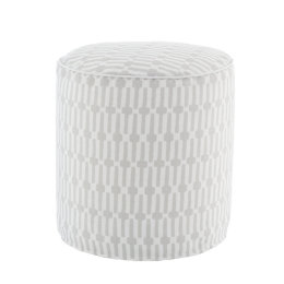 Links Indoor & Outdoor Pouffe | Pearl Grey