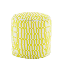 Links Indoor & Outdoor Pouffe | Chartreuse