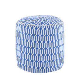 Links Indoor & Outdoor Pouffe | Cobalt