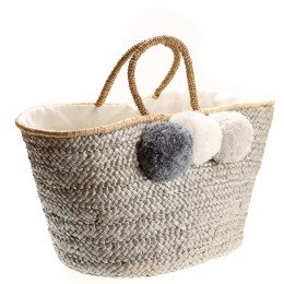 Metallic Pom Pom Bag