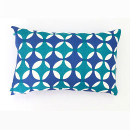 Moroccan Blue Cushion by Georgia Bosson | 50x30