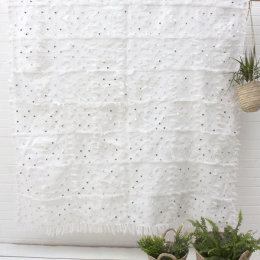 Moroccan Sequin Wedding Blanket | White