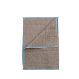 Linen Placemat | Blue Trim | Set of 2