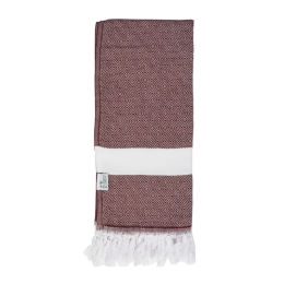 Reef Hammam Towel | Burgundy