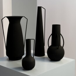 Roman Vases | Set of 4 | Black
