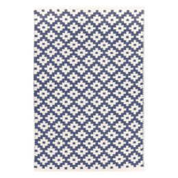 Samode Indoor & Outdoor Rug | Denim/ivory 5'x3'