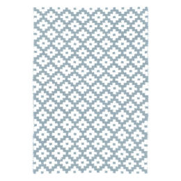 Samode Indoor & Outdoor Rug | Light blue/ivory 5'x3'