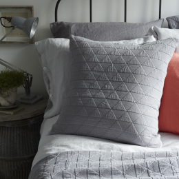 Slate Grey Diamond Cushion